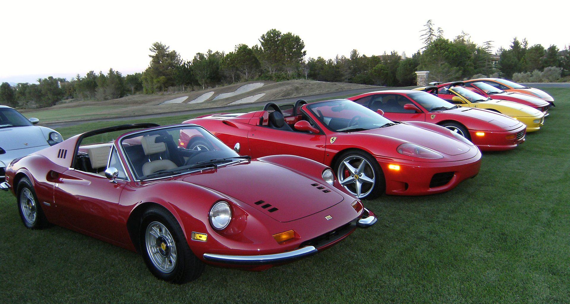 Ferrari Club Las Vegas Fleet
